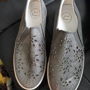 Jack Rogers Violet Leather Slip-On Sneakers 8.5M